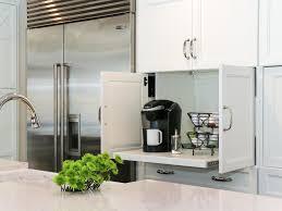 coffee kitchen cabinet ideas coffee station in kitchen cabinet hgtv