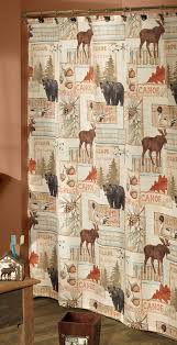 Adirondack Shower Curtain by Rustic Shower Curtains Moose Bear U0026 Pinecone Designs