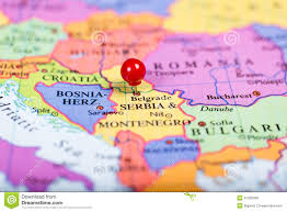 Map Of Serbia Red Push Pin On Map Of Serbia Stock Photo Image 47255099