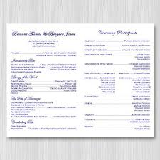 wedding program catholic catholic church wedding program grace navy blue gold wedding
