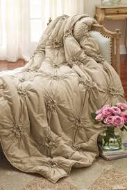 Romantic Comforters Bella Smocked Coverlet Coverlets Bedding Home Decor Soft