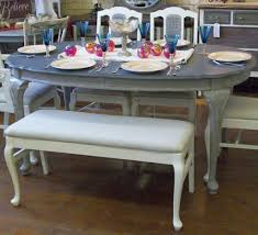 paint dining room table white chalk painted dining room table