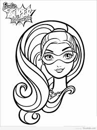 barbie superhero coloring pages timykids
