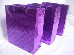 metallic gift bags 12 purple metallic paper carrier gift bags 34cmx26x8cm 3251652169448