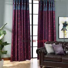 Purple Room Darkening Curtains Room Darkening Curtains Purple Pattern Print Modern Buy