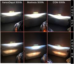 lexus vs toyota comparison 4300k vs 5000k hid color temperature comparison toyota nation