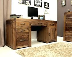 Solid Wood Corner Desk Desk Impressive Amish Mission Computer Hutch Solid Wood Home
