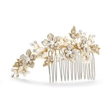decorative hair combs decorative hair comb gold ivory pearl wedding comb side comb 001h