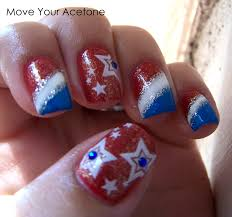 patriotic nail art for 4th of july i would just do the ring finger