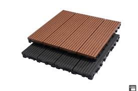 interlocking composite decking tiles from dura composites