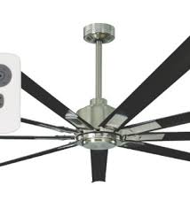 industrial looking ceiling fans mercator rhino dc 79quot ceiling fan w remote brushed chrome