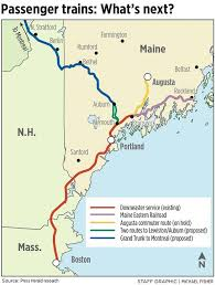 Map Of Portland Maine Expansion Of Passenger Trains In Maine Takes Slow Track Portland
