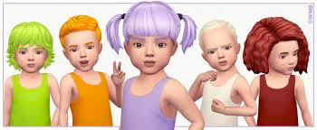 childs hairstyles sims 4 toddler hair recolours wildlyminiaturesandwich