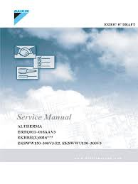 altherma 11 16 service manual electrical connector leak