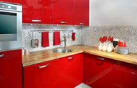 Red Color Kitchen Walls - best colors for modular kitchen endearing l model red modern