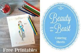 beauty beast free printables