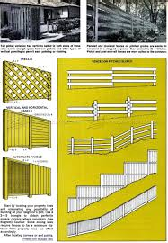 wood fence plans u2022 woodarchivist