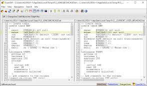 sql compare two tables pl sql developer compare user objects