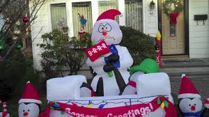 my airblown inflatable christmas display 2012 youtube