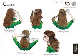how to get a lifted crown hairdo crown lift plus 9 other illustrated styles show me a picture i