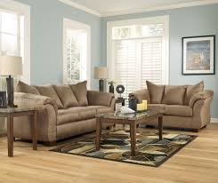 Microfiber Living Room Set Signature Design By Ashley Darcy Mocha Contemporary Sectional