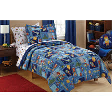 Twin Airplane Bedding by Dream Factory Trucks Reversible Comforter Set With Sheets