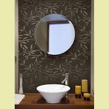Bathroom Wall Stencil Ideas Manificent Design Bathroom Stencils 11 Stenciled Bathroom Wall And