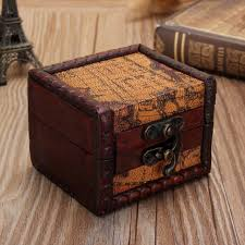 vintage necklace box images Vintage mini wooden lock jewelry holder storage box necklace jpg