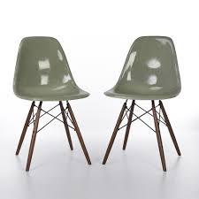 original zenith seafoam eames dsw side chairs for herman miller
