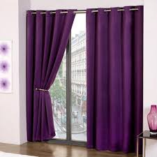 Purple Curtains Cali Eyelet Ring Top Thermal Blackout Curtains Purple
