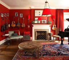 Home Theater Rug Guitar Wall Hanger Home Theater Eclectic With None