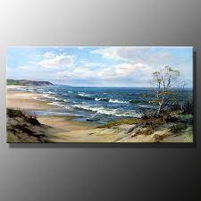 original oil painting beach sea a6