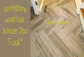 herringbone wood look plank porcelain tile floor time lapse t lock