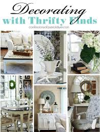 decorating with thrifty finds a décor challenge confessions of