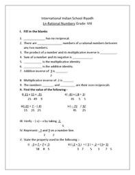 rational numbers grade 8 international indian 8th grade