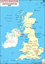 United States Map With Latitude And Longitude by Map Of Uk And Ireland Map Of Uk Counties In Great Britain Uk Map