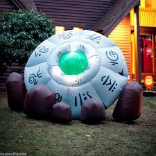 Outdoor Halloween Decorations Inflatables by Inflatable Crashed Ufo Alien Flying Saucer Outdoor Halloween Prop