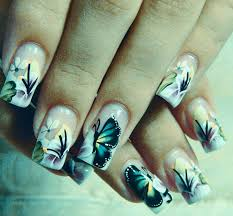 60 most beautiful butterfly nail design ideas