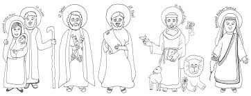 All Saints Day Coloring Page Coloring Home Saints Colouring Pages