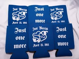 koozies for weddings personalized wedding koozie odyssey custom designs