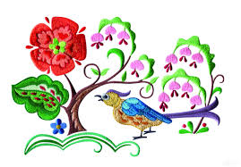 birds paradise jf309 embroidery design