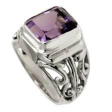 amethyst stone rings images Wisdom warrior handmade artisan 3 carat bezel set purple amethyst jpg