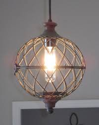 Globe Ceiling Light Rustic Small Metal Globe Pendant Light Distressed Rustic