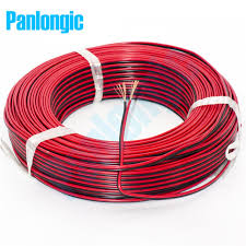 5 meters 2 pin red and black rvb electronic wire 0 75 square mm