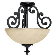 Wrought Iron Ceiling Lights C3262wi Mediterranean Semi Flush Mount Ceiling Light Wrought
