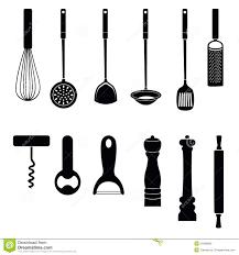outil cuisine collection de silhouette d outil de cuisine d ustensile illustration