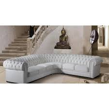 canap chesterfield angle grand canapé d angle en cuir pleine fleur chesterfield pop design fr
