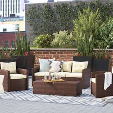 white wicker patio furniture wayfair
