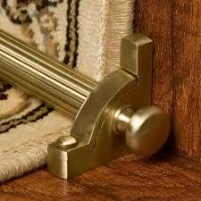 solid brass mushroom stair rod set hardware