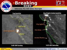 Wildfire Map National by Wildfire In Monterey County Grows To More Than 10 000 Acres Sfgate